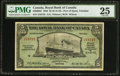 Canadian Currency: , Port of Spain, Trinidad- The Royal Bank of Canada $5 Jan. 3, 1938Ch. # 630-68-02.. ...