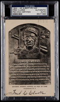 Autographs:Post Cards, 1944-45 Fred Clarke Signed Artvue Hall of Fame Plaque PostcardPSA/DNA Authentic....