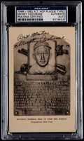 Autographs:Post Cards, 1946-52 Mickey Cochrane Signed Artvue Hall of Fame Plaque PostcardPSA/DNA Authentic. ...
