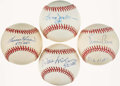 Autographs:Baseballs, Baseball Hall of Famers Single Signed Baseball Quartet (4) - Banks,Killebrew, McCovey, & Jackson. ...