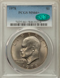 Eisenhower Dollars, 1978 $1 MS66+ PCGS. CAC. PCGS Population: (473/6 and 28/0+). NGC Census: (201/5 and 0/0+). CDN: $65 Whsle. Bid for problem-...
