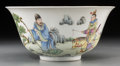 Asian:Chinese, A Chinese Enameled Porcelain Bowl, Republic Period, circa1912-1949. Marks: Six-character Daoguang seal in red underglaze ....