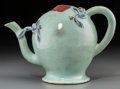 Asian:Chinese, A Chinese Celadon Glazed Porcelain Cadogan Teapot. 5-1/2 incheshigh x 7-5/8 inches wide (14.0 x 19.4 cm). ...