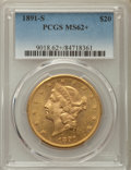 Liberty Double Eagles: , 1891-S $20 MS62+ PCGS. PCGS Population: (2053/1022 and 26/13+). NGC Census: (1986/574 and 5/6+). CDN: $1,255 Whsle. Bid for...