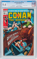 Bronze Age (1970-1979):Adventure, Conan the Barbarian #6 (Marvel, 1971) CGC NM 9.4 Off-white to white pages....