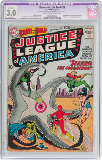 The Brave and the Bold #28 Justice League of America (DC, 1960) CGC Apparent GD/VG 3.0 Slight (P) Cream to off-white pag...