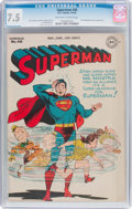 Golden Age (1938-1955):Superhero, Superman #40 (DC, 1946) CGC VF- 7.5 Off-white to white pages....