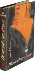 "Books:Mystery & Detective Fiction, Ian Fleming. Diamonds Are Forever. London: Jonathan Cape, [1956]. First edition, first impression, with ""His fri..."
