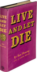 Books:Mystery & Detective Fiction, Ian Fleming Live and Let Die. London: Jonathan Cape, [1954].First edition, apparent first impression (with no menti...