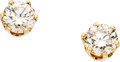 Estate Jewelry:Earrings, Diamond, Gold Earrings The earrings feature ro...