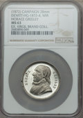 U.S. Presidents & Statesmen, (1872) MS Horace Greeley Campaign Medal, DeWitt HG-1872-4, MS63NGC. White metal, 28 mm. Sharp and prooflike with modest ca...