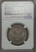 Expositions and Fairs, (Circa 1887) MS Ice Palace & Winter Carnival Souvenir, St.Paul, Minnesota -- Obverse Damaged -- NGC Details. Unc. White Me...