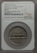 Expositions and Fairs, 1876 MS Centennial Exposition of Chicago, Gunther's Candy, Rulau IL-CH-11, MS61 NGC. This token is listed in the Rulau cata...