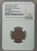 Expositions and Fairs, 1876 MS Lingg Centennial Token, Obverse X, Reverse Y, MS64 BrownNGC. Bronze. Traces of orange mint color appear on the ref...