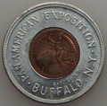 Expositions and Fairs, 1901 MS Pan-American Exposition, Lucky Penny, Unc Uncertified. Aluminum and bronze, 38 mm. A lovely Mint State piece, the a...
