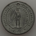 Expositions and Fairs, 1882 MS Pennsylvania Bicentennial Celebration, AU Uncertified. White metal, 31 mm. Holed as usual. This pewter-gray piece d...