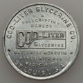 20th Century Tokens and Medals, Undated MS Cod-Liver Glycerine Company, St. Louis, MO, Unc Uncertified. Aluminum, 30 mm. Fully lustrous light gray surfaces...