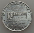 20th Century Tokens and Medals, Undated MS Cod-Liver Glycerine Company, St. Louis, MO, Unc Uncertified. Aluminum, 30 mm. Brilliant and semi-reflective ligh...