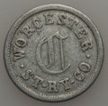 20th Century Tokens and Medals, Undated MS Worcester Street Railway Co., Worcester, Massachusetts,Extremely Fine Uncertified. Aluminum, 26 mm. Scattered m...