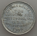 20th Century Tokens and Medals, 1902 MS Thomas L. Elder, Pittsburg, PA, DeLorey-2, Unc Uncertified.Aluminum, 31 mm. An important coin dealer token from a ...
