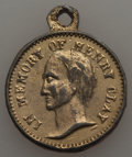 U.S. Presidents & Statesmen, 1860 MS Henry Clay Memorial, AU Uncertified. Gilt white metal, 23mm. With a loop attached, this memorial piece depicts a b...