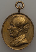 U.S. Presidents & Statesmen, (Circa 1865) MS Abraham Lincoln, Martyr to Liberty, King-279,Cunningham 9-600, Unc Uncertified. Gilt brass, oval, 21 x 24 ...