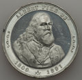 U.S. Presidents & Statesmen, 1891 MS Albert Pike Memorial Medal, Unc Uncertified. White metal,45 mm. This important medal can be considered a Military,...