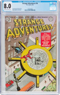 Golden Age (1938-1955):Science Fiction, Strange Adventures #36 (DC, 1953) CGC VF 8.0 Off-white to whitepages....