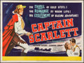 "Movie Posters:Adventure, Captain Scarlett & Other Lot (United Artists, 1953). BritishQuads (2) (30"" X 40""). Adventure.. ... (Total: 2 Items)"