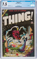 Golden Age (1938-1955):Horror, The Thing! #17 (Charlton, 1954) CGC VF- 7.5 Off-white to whitepages....