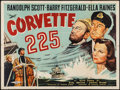 "Movie Posters:War, Corvette K-225 (Universal, 1943). British Quad (30"" X 40""). War....."