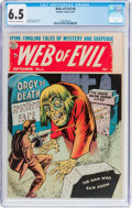 Golden Age (1938-1955):Horror, Web of Evil #6 (Quality, 1953) CGC FN+ 6.5 Off-white to whitepages....