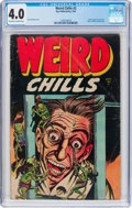 Golden Age (1938-1955):Horror, Weird Chills #2 (Key Publications, 1954) CGC VG 4.0 Off-white towhite pages....