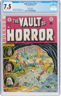 Golden Age (1938-1955):Horror, Vault of Horror #27 Palo Alto Collection (EC, 1952) CGC VF- 7.5Off-white to white pages....