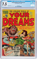 Golden Age (1938-1955):Horror, Strange World of Your Dreams #3 (Prize, 1952) CGC VF- 7.5 Off-whiteto white pages....