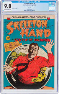 Skeleton Hand #6 River City Pedigree (ACG, 1953) CGC VF/NM 9.0 Off-white to white pages