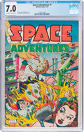Golden Age (1938-1955):Science Fiction, Space Adventures #1 (Charlton, 1952) CGC FN/VF 7.0 Off-white towhite pages....