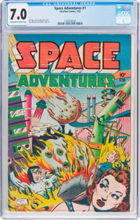 Space Adventures #1 (Charlton, 1952) CGC FN/VF 7.0 Off-white to white pages