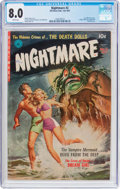 Golden Age (1938-1955):Horror, Nightmare #2 (Ziff-Davis, 1952) CGC VF 8.0 White pages....