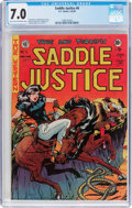 Golden Age (1938-1955):Western, Saddle Justice #6 (EC, 1949) CGC FN/VF 7.0 Light tan to off-white pages....