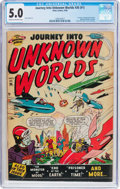 Golden Age (1938-1955):Science Fiction, Journey Into Unknown Worlds #36 (#1) (Atlas, 1950) CGC VG/FN 5.0Cream to off-white pages....