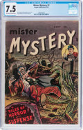 Golden Age (1938-1955):Horror, Mister Mystery #1 (Aragon, 1951) CGC VF- 7.5 Off-white to whitepages....