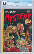 Golden Age (1938-1955):Horror, Mister Mystery #2 (Aragon, 1951) CGC VF+ 8.5 Off-white to whitepages....