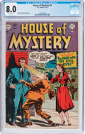 Golden Age (1938-1955):Horror, House of Mystery #4 (DC, 1952) CGC VF 8.0 White pages....