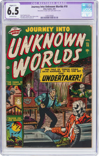 Journey Into Unknown Worlds #10 (Atlas, 1952) CGC Apparent FN+ 6.5 Slight (C-1) Off-white pages