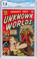 Golden Age (1938-1955):Horror, Journey Into Unknown Worlds #14 (Atlas, 1952) CGC VF- 7.5 Off-whitepages....