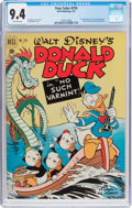 Golden Age (1938-1955):Cartoon Character, Four Color #318 Donald Duck (Dell, 1951) CGC NM 9.4 Off-white pages....