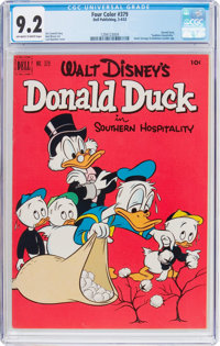 Four Color #379 Donald Duck (Dell, 1952) CGC NM- 9.2 Off-white to white pages