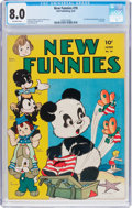 Golden Age (1938-1955):Funny Animal, New Funnies #76 (Dell, 1943) CGC VF 8.0 Off-white pages....