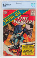Silver Age (1956-1969):Adventure, Showcase #1 Fire Fighters (DC, 1956) CBCS VG/FN 5.0 Off-white pages....
